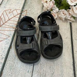 Mens Footjoy golf sandals 9M black gray summer